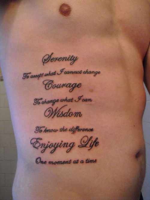 Inspiring Tattoos on the Ribs
