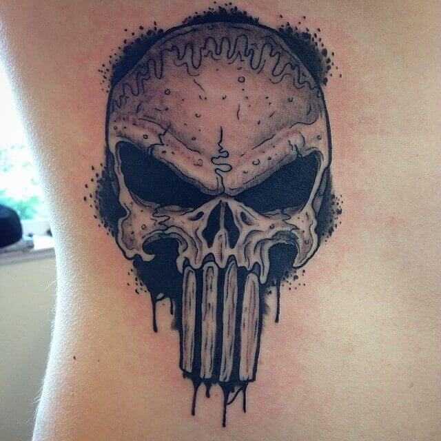 Rib Skull Tattoo Design