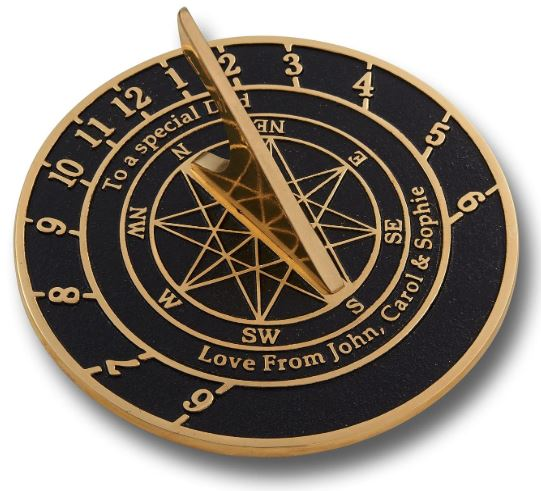 The Metal Foundry Personalized Large English Brass Sundial Gift-image