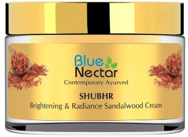 Blue Nectar Ayurvedic Brightening and Lightening Face Cream for Skin Glow:-image