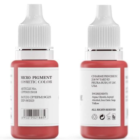Charme Princesse Microblading Pigment - Lip Tattoo Ink:-image