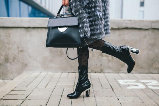 Black and white cowboy shoe
