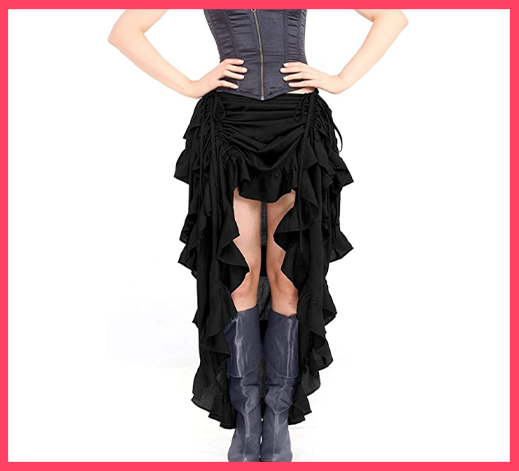 ThePirateDressing Steampunk Women's High-Low Skirt