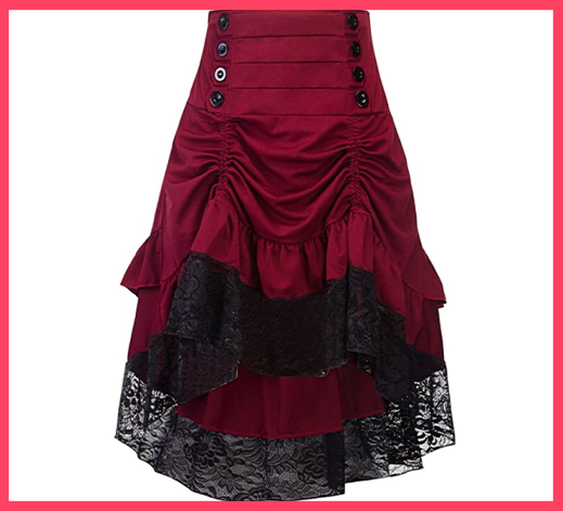High Low Gypsy Hippie Lace Party Skirt