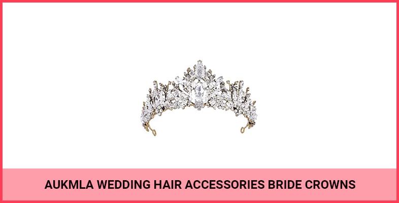 Aukmla Wedding Hair Accessories Bride Crowns