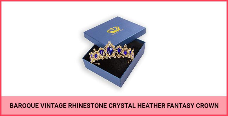 Baroque Vintage Rhinestone Crystal Heather Fantasy Crown