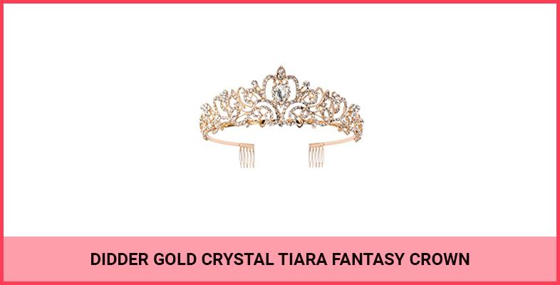 Didder Gold Crystal Tiara Fantasy Crown