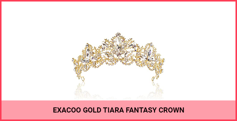 Exacoo Gold Tiara Fantasy Crown