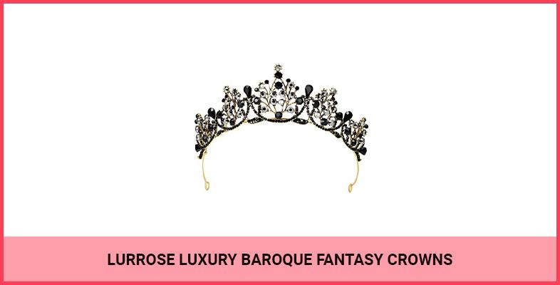 Lurrose Luxury Baroque Fantasy Crowns