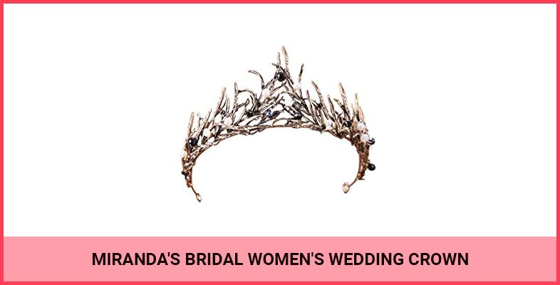 Miranda's Bridal Women's Wedding Crown