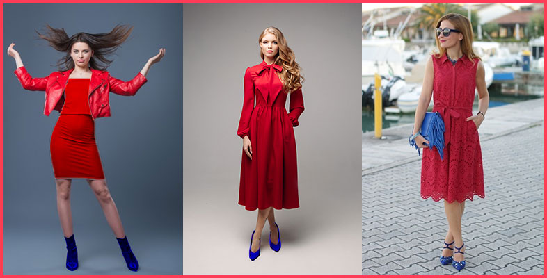 Red-Dress-With-Blue-Shoes