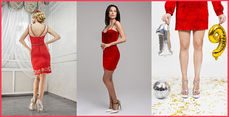 Red-Dress-With-Silver-Heels