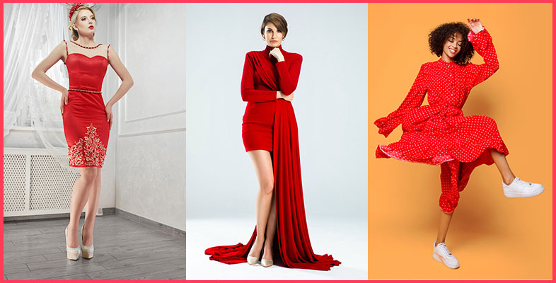 Red Dress With White Shoes