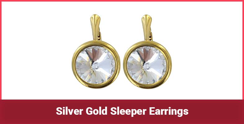 Silver Gold Sleeper Earrings