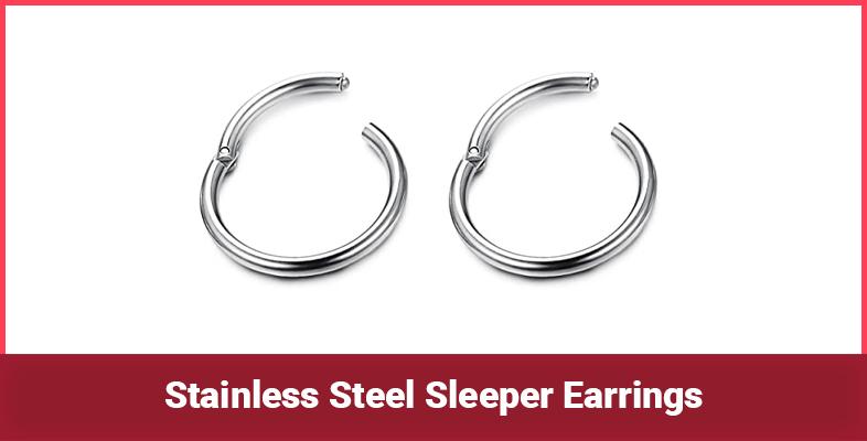 Stainless Steel Sleeper Earrings