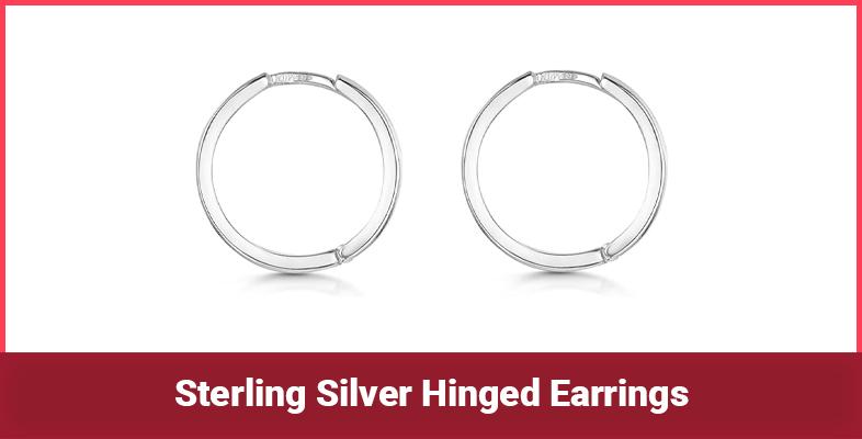 Sterling Silver Hinged Earrings