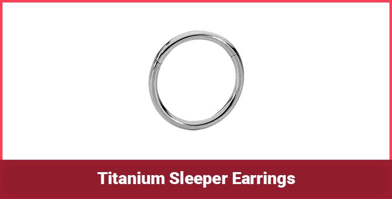 Titanium Sleeper Earrings
