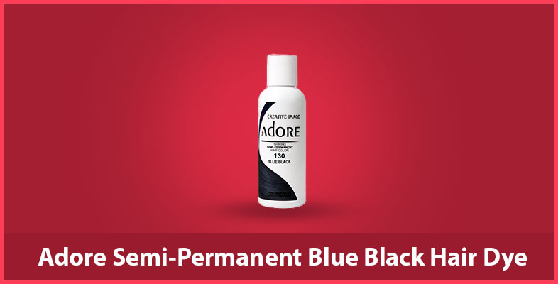 Adore Semi-Permanent Blue Black Hair Dye