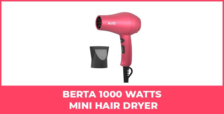 Berta 1000 Watts Mini Hair Dryer
