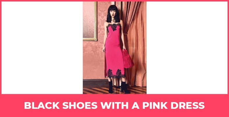 Black Shoes With A Pink Dress