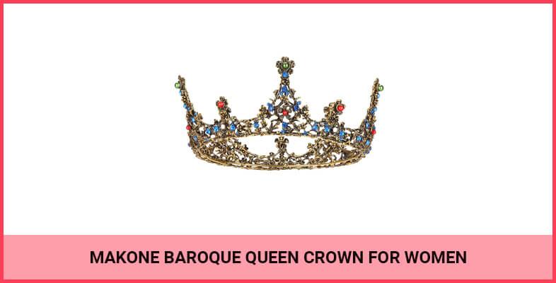 Makone Baroque Queen Crown For Women