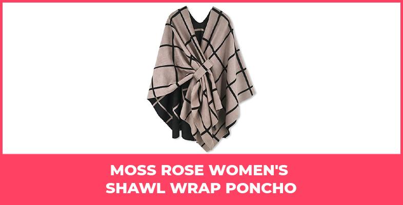 Moss Rose Women's Shawl Wrap Poncho