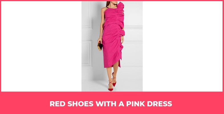 Red Shoes With A Pink Dress