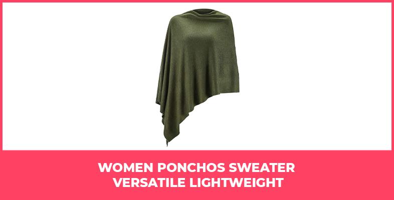 Women Ponchos Sweater Versatile Lightweight