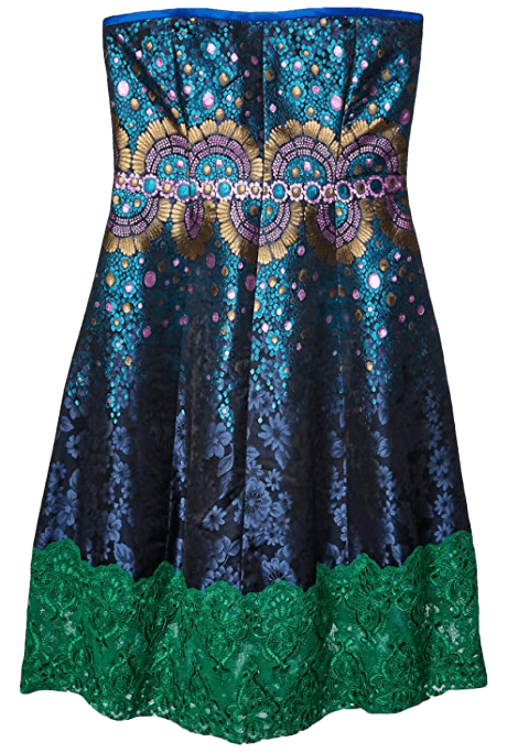 Cynthia Rowley Women's Peacock Jacquard Strapless Dress-image
