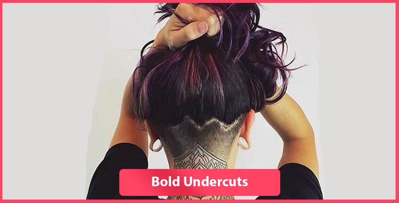 Bold undercuts