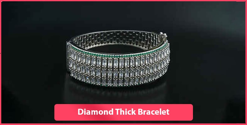 Diamond Thick Bracelet