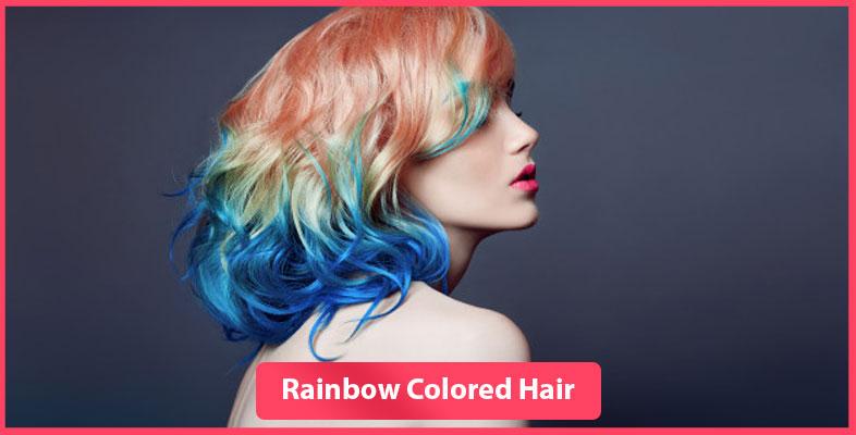 Rainbow colored hair