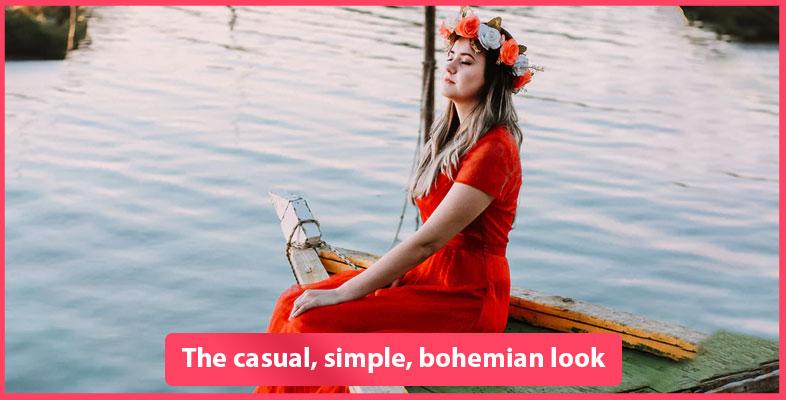 The Casual, Simple, Bohemian Look