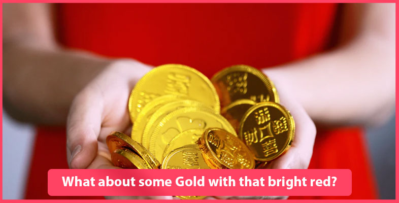 What About Some Gold With That Bright Red
