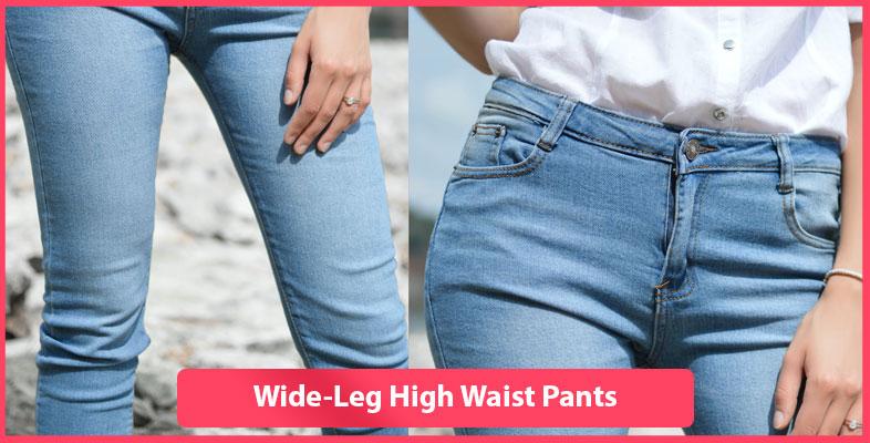 Wide-Leg High Waist Pants