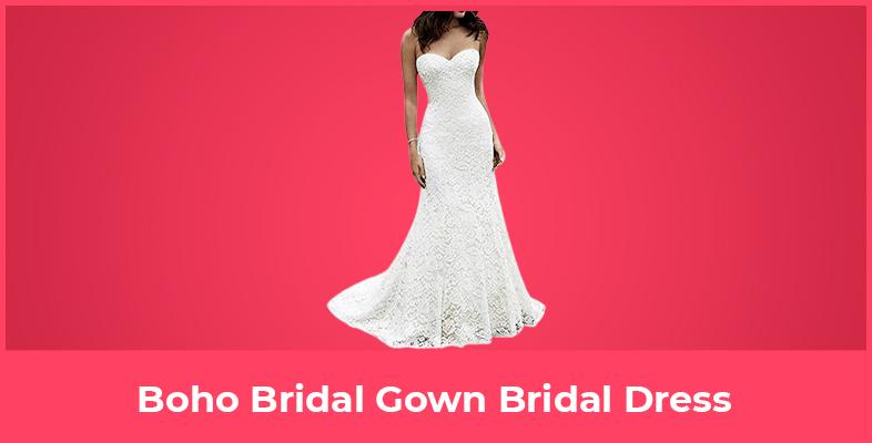 Boho Bridal Gown Bridal Dress