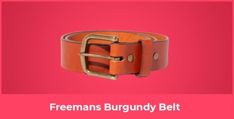 Freemans Burgundy Belt